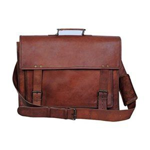 Komal's Passion Leather Handmade Laptop Briefcase